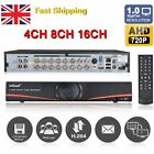 NEW 4CH/8CH/16CH AHD 720P DVR Home CCTV Security Kit System Recorder 500GB/1TB