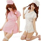 Role Play Ladies Cosplay Hospital Outfit Babydoll Nurse Fancy Dress