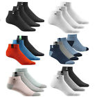 ADIDAS (3 PAIR) PACK TRAINER LINER ANKLE SOCKS KIDS ADULTS SOCKS SIZES UK 2 -17