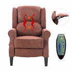 Massage Recliner Chair Heated Sofa Deluxe Ergonomic Lounge Suede W/ Control New