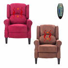 Deluxe Massage Recliner Chair Heated Sofa Ergonomic Lounge Suede w Control New