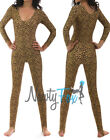 Leopard Animal Cheetah Cat Shiny Spandex Stirrup Unitard,Bodysuit Costume S-2XL