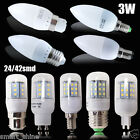 6 10x B22 E14 E27 E14 GU10 G9 LED Candle Bulbs 24/42 SMD Corn Light Bulb 3W 4W