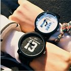 Mens Womens Charismatic Dull Polish Leather Band Quartz Sports Wrist Watch Gift