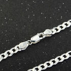 High Quality 5MM 925 Sterling Silver Chain Men Figaro Necklace 16-20Inch