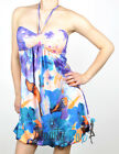 Sexy Halter Style Tie Dye Short Summer Party Dress S-L