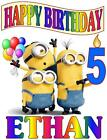 MINIONS Personalized HAPPY BIRTHDAY T-SHIRT Any Name/Age Super Soft