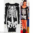 Womens Mini Dress Jesy Nelson Little Mix Skeleton Print Bodycon Tunic Skirt Tops