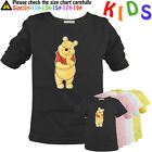 Cute Love Cartoon Winnie the Pooh Pattern Kids Gift Long Short Sleeve T-Shirt