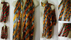#2/3 Silky 2 Tone Argyle Diamond Print Scarf Shawl Gold/Grey Red/Emerald Green