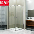 800x800/900x900 Sliding Shower Enclosure Corner Entry Cubicle Screen Stone Tray