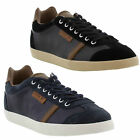 New Lacoste Brendel 6 SRM Mens Black Blue Leather Trainers Shoes Size UK 8-11