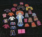 20+ Piece Each Chunky MAGNETIC Dress Up Wooden Doll TOY Redhead Brunette Blonde