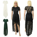 Formal Long Women Lace Dress Prom Evening Party Cocktail Bridesmaid Wedding CC