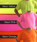 Plain Cotton Gildan Neon Bright Pink Yellow Orange Fluorescent T Shirts Safety