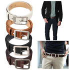 Men's Waistband Casual Business Luxury Leather Pin Buckle Belt Waist Strap Belts
