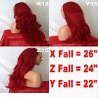 PILLAR RED Long Curly Layered Half Wig Hair Piece Ladies 3/4 Wig Fall Clip in