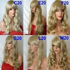 SANDY BLONDE Curly Layered Full Wig Ladies Fashion Fancy dress wigs