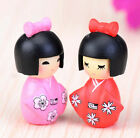 FD2851 Kimono Girl Miniature Dollhouse Ornament Flower Pot Aquarium Craft 1pc