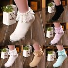 FD3037 Vintage Princess Sweet Girl Women Lace Ruffle Frilly Ankle Cotton Socks