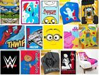 OFFICIAL LICENSED - KIDS CHARACTER SOFT FLEECE BLANKET BED THROW PLAY GIFT XMAS