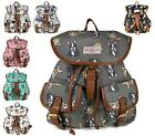 LADIES GIRLS RUCKSACK BACKPACK DOG NEWSPAPER SCHOOL SHOULDER BAG COLLEGE HANDBAG