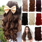 100% real Natural 3/4 Full Head Clip in on Hair Extension Extentions Hot Sale JB