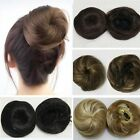Chignon Straight Black/Brown Colors Hairpiece Updo Hair Extension Drawstring Bun