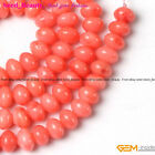 "Rondelle White Coral Gemstone Loose Beads Strand 15"" 3x5mm 4x6mm Select SD5474-V"
