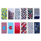 For Smart Phone Popular Synthetic Leather Magnetic Case Stripes Stand Card Cover