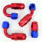AN6 -6 6AN Braided Hose Fitting Red / Blue (Choose Angle) Demon Motorsport