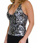 Top Evening Party Ladies Womens Black Sexy New Sequin Tops Size 8 10 12 14
