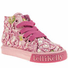 LELLI KELLY FIORI DI PESCO MID KIDS TODDLER PINK FABRIC LACE UPS TRAINERS