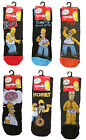 HOMER SIMPSONS OFFICIAL MENS WARM SPORT CARTOON CHARACTER ANKLE SOCKS -SIZE 6-11
