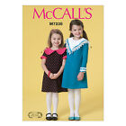 McCall's 7235 Sewing Pattern to MAKE Girls' Dresses with Collar and Cuff Detail