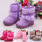 Baby Kid Girl Toddler Winter Warm Snow Boots Man Made Suede Shoes Zipper Up