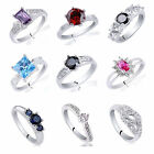 Big Saving Assorted 10pcs Lot 925 Sterling Silver Women Rings Jewelry