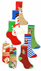 Childrens Christmas Socks New Boys Girls Xmas Gift Cotton Rich Ankle Socks 3PK