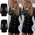 New Women Long Sleeve Bodycon Party Slim Cocktail Short Mini Pencil Dress k