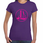 grabmybits - Hairdressing Comb & Scissor Design Ladies T Shirt - Salon Stylist