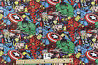 RARE MARVEL Large Superheroes  : 100% LICENSED cotton fabric : by the 1/2 metre