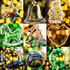 Christmas Xmas Decoration Ornament Tree Transparent Clear Plastic Bauble