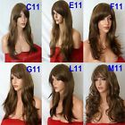 BROWN BLONDE Curly Layered FULL WOMEN LADIES FASHION HAIR WIG Fancy dress wigs