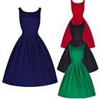 Women Vintage 50s 60s Rockabilly Retro Pinup Swing Prom Ball Evening Party Dress