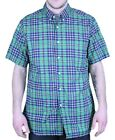 STEVEN ALAN Men's Green / Multi Plaid Single Needle Shirt MST19CT $154 NWT