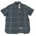 Double Ralph Lauren RRL Mens Blue Short Sleeve Slim Button Down Chambray Shirt
