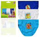 Boys Official Scooby Doo Briefs New Kids Character 3 Packet Pants Ages 2-6 Years