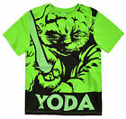 Boys Short Sleeved Yoda TShirt New Kids Official Star Wars Top Ages 6-15 Years