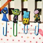 100pcs Teen Titans Novelty Cartoon Bookmarks,Paper Clips Books Holder,Kids Gifts