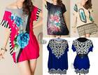 BOHO Sparkle Sequin Tunic Kaftan Loose Long Top/Beach Cover Up AU SELLER T077